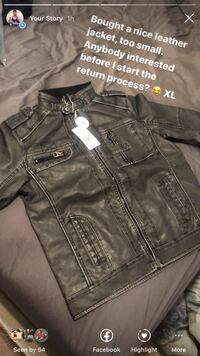 Denzell outwear leather jacket XL