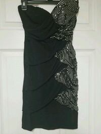 women's black and silver sleeveless dress Golden, 80401