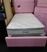 white and gray floral mattress 13 mi