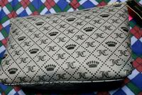 white and black leather wallet