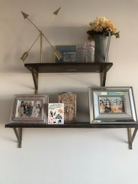 Floating wooden shelves with gold accents  Bethesda, 20814