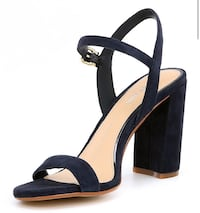 Pair of black open toe ankle strap heels Frisco, 75034