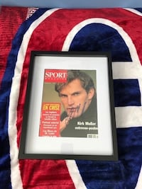 Montreal Canadiens Kirk Muller signed and framed magazine