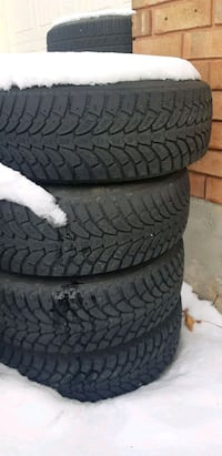 4 snow tires on rims