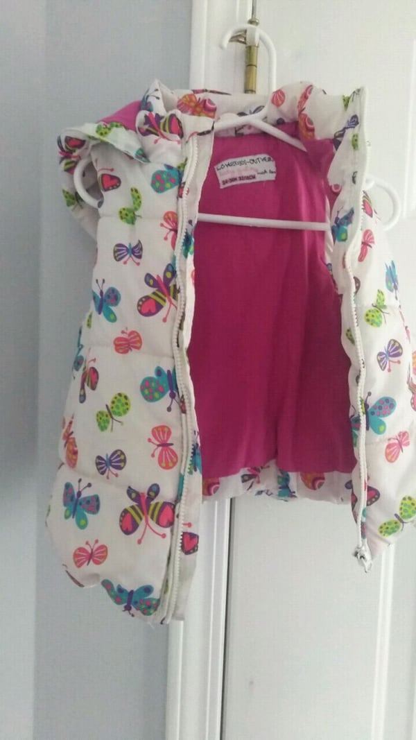 white and pink floral print zip-up hoodie 365c8596-6a29-4daa-b5e0-f1d3035b0732