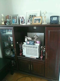 brown wooden cabinet with hutch Toronto, M9V 3Z8