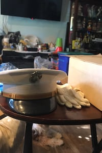 Vintage USMC Officers Kingform Cap Cap 7 3/8 with gloves original box Beltsville, 20705