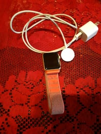 gold aluminum case Apple Watch with white sports band Oakville, L6J 7R9