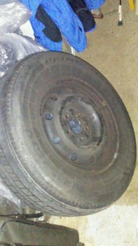 """15"""" Rim with used tire 215/70R15"""