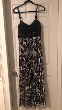 Black & white Formal dress / Evening gown  TORONTO