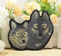"""3.8 x 3.3"""" iron-on wolf patch Oakdale, 11769"""