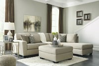 Sectional Sofa New with pillows. Ashley Brand