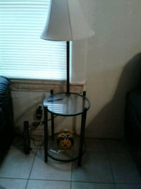black metal base white shade table lamp Porterville, 93257