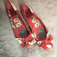 Tory Burch Red Floral Flats Size 8 Arlington, 22201