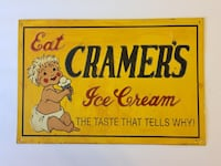 Eat Cramer's Ice Cream The Taste That Tells Why sign Austin, 78745