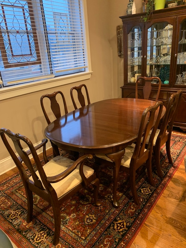 Used Ethan Allen Cherry Dining Room Set For In Chicago