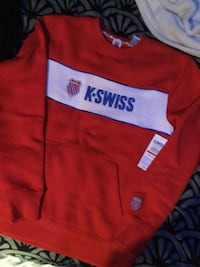 red and white crew-neck sweater 1962 km