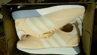 Peach-gray-and-white adidas EQT shoes with box Lexington, 40508