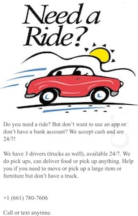 Taxi Service/ Food Delivery  Bakersfield
