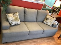 New Grey Sleeper Sofa w/ Queen Size Mattress By Bench Chaft  Virginia Beach, 23462