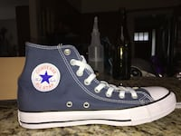 Navy blue high top converse Victoria, V8R 2N5