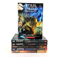 Star Wars Books Complete Series 1-6 Based On Films Youth Chapter 2 Trilogies Set Port Colborne