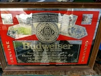 red and black Budweiser poster Brookshire, 77423