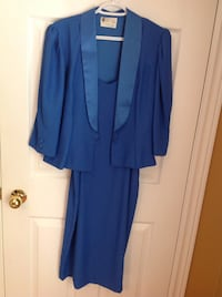 GORGEOUS BLUE DRESS SIZE 11/12 COMES WITH JACKET Clearview, L0M