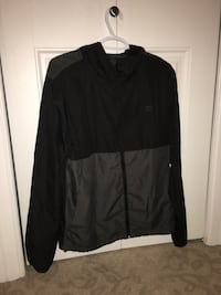 black zip-up jacket