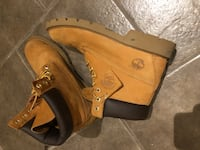 pair of brown Timberland nubuck work boots Toronto, M1H 1M2