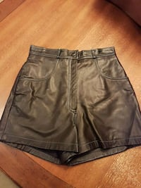 Black leather shorts  Vaughan, L4H 1M4