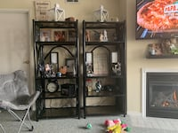 Bamboo and glass shelves EXCELLENT CONDITION Barrie, L4M 6J3