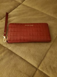 Michael Kors wine color clutch wallet brand new