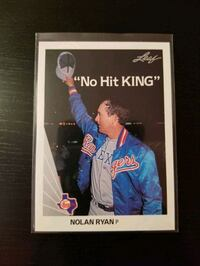 "Mint 1990 Leaf ""No Hit King"" - Nolan Ryan #265 Toronto, M6C 2L9"