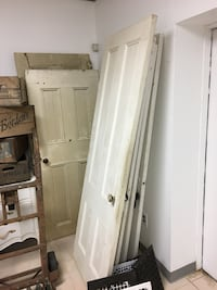 6 Original Wooden Doors with handle/hinges, 100 years old, early 1900s