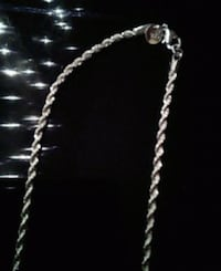 Silver rope chain 26 in