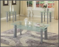 Glass white coffee table 27 km