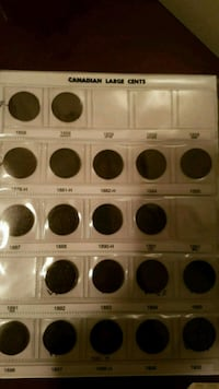 1858-1920 Large Cent Penny collection  Guelph