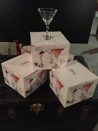 4 ea. 4 in each box 9 oz. Martini Glasses by Libbey Brand New Never Used Smoke Free Home $10.00 Each Box Brand New Never Used!! Coram, 11727