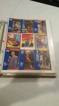 1991 uncut nba sample card sheet Jessup, 20794