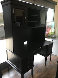 Black Desk with Hutch Henderson, 89123
