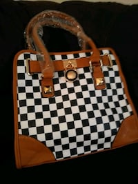 Fashion checker handbag