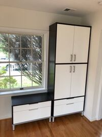 White and brown wooden cabinets Washington