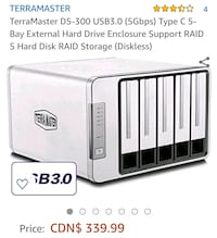 TERRAMASTER EXTERNAL HARDDRIVE NEW - PLEASE READ POST  Oshawa, L1G 3M5