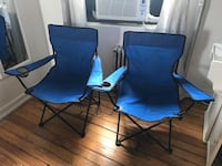 Two lawn chairs with covers  New York, 11211