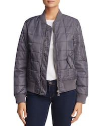 Fillmore Quilted Bomber Jacket (Charcoal, S)