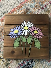 Handpainted floral wall decor