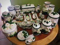 white and green floral ceramic vases and containers Pico Rivera, 90660