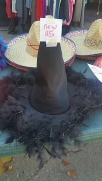 Adult new nice witch hat with feathers Cedar Rapids, 52404
