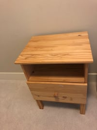 Brown wooden single drawer nightstand  Surrey, V3Z 3Y3